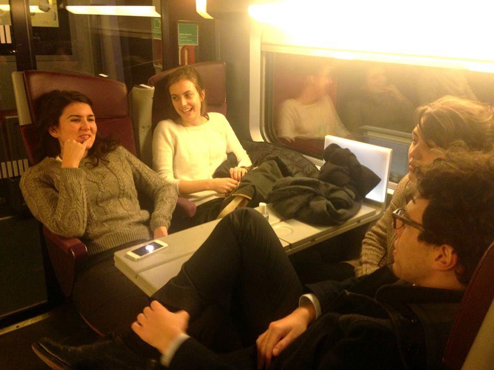 Retour en train vers Paris : fatigués mais heureux !