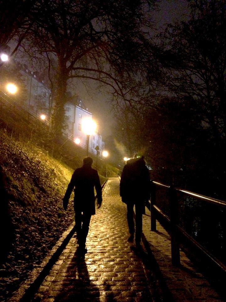 Découverte nocturne de Luxembourg sous la neige