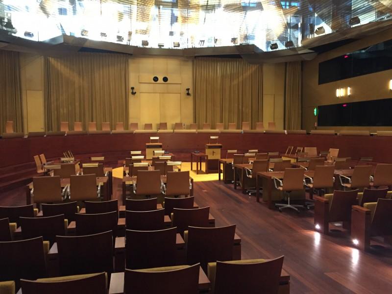 Salle d'audience de la Cour